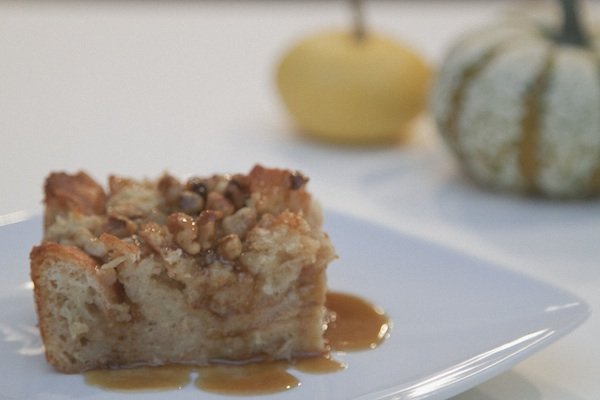 rum bread pudding / a thousand threads