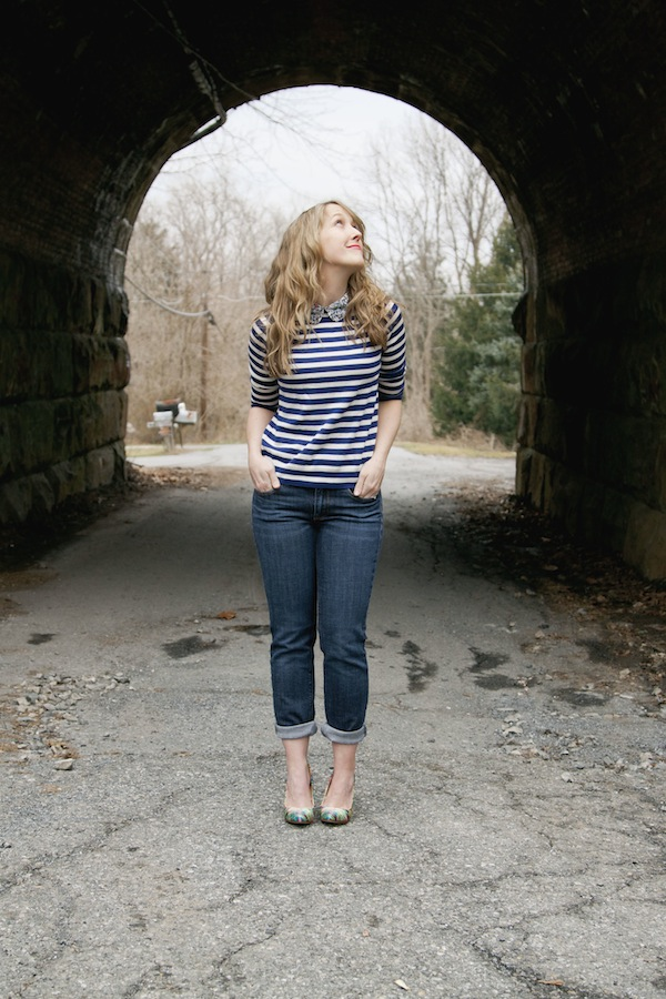 stripes and jeans / a thousand threads