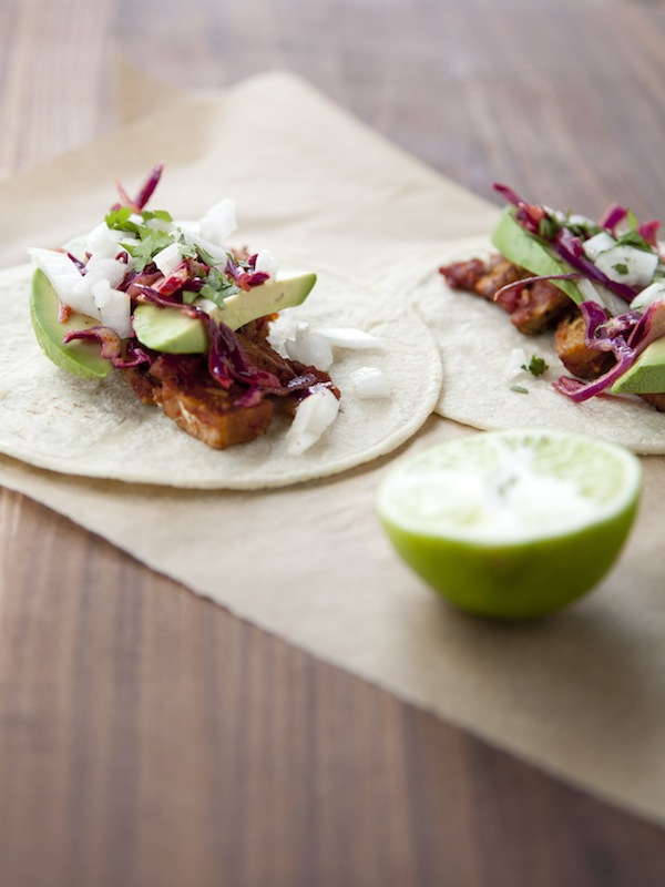 tempeh tacos / a thousand threads